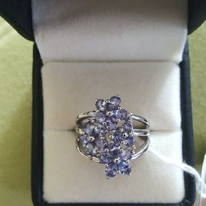Tanzanite 2.82cts Sterling Silver Size 9